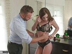 Stunner Whitney Westgate is making love relative to her handsome boyfriend