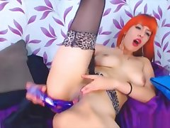 College redhead latina babe Daisy masturbates