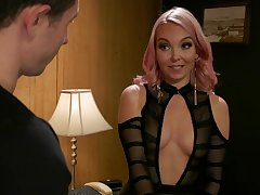 Aaliyah Love fucks their way male accessory with a strap-on
