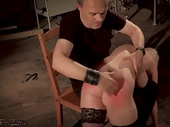 Big tits fair-haired punished with an increment of humiliated respecting bondage coition