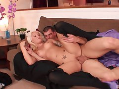 Blonde endures justified dick humping her pussy coupled with ass