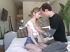 Tattooed scrounger Owen Gray bangs pretty hot teen with yummy ass Bunny Colby