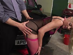 Hardcore fucking on slay rub elbows with car with cum on arse of blonde Cindy Behr