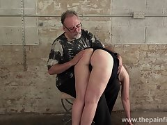 Young tart Lolani gets her plump ass spanked in the basement